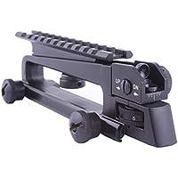 ARWIN Características AR A2 Desmontable Llevan la manija Monte A2 diseño con Efecto del Viento y de elevación Ajustes el Carril de Picatinny Combo para M4 M16 Caza de Piezas (Combo)