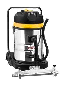 Aspirateur industriel eau et poussière 70L 3 moteurs 3000W