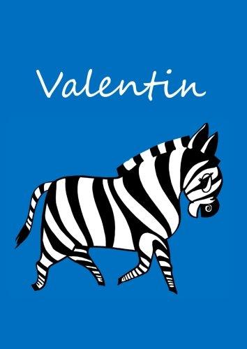 (individualisiertes Malbuch/Notizbuch/Tagebuch - Valentin: Zebra - A4 - blanko)