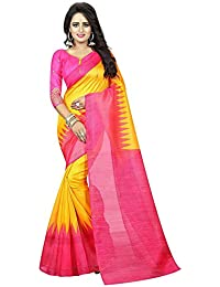 Mantra Bhagalpuri Silk Saree For Women With Blouse Pices