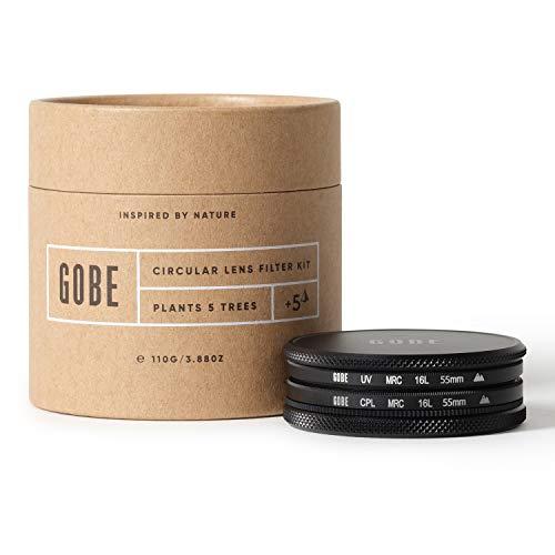 Gobe 55 mm UV Filter + Polfilter (CPL) - Filter Kit (2Peak)