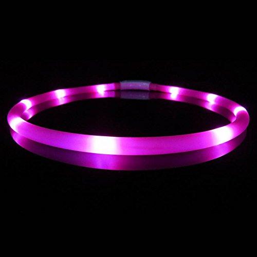 ZREAL USB LED Hund Luminous Kragen Silikon Einstellbare Beleuchtung Glow Hunde Leine Nacht Sicherheitsgurt Halsbänder Haustiere Liefert