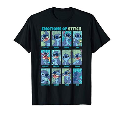 Disney Lilo & Stitch the Emotions Of Stitch Panel Grid T-Shirt (Kinder Disney Stitch Hoodie)