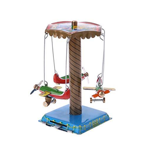 LLAni 1 Set rotierendes Flugzeug-Gedenkspielzeug, Vintage-Spielzeug, Gedenkspielzeug, Metall, Rotation, Flugzeug, Geschenke, Kinder zum Spielen lustig, buntes Handwerk Dekoration (Flugzeuge Vintage Spielzeug)