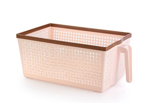 Nayasa Frill No. 1 Plastic Fruit Basket, Small, Peach