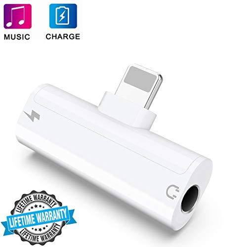 Kopfhörer Adapter für iPhone Adapter 3,5 mm Klinke AUX Audio Splitter für iPhone XS Max iPhone XS iPhone 7 / 7plus 8 / 8plus Kopfhörer Dongle Headset Kabel Konverter Unterstützung iOS 12 oder neuer