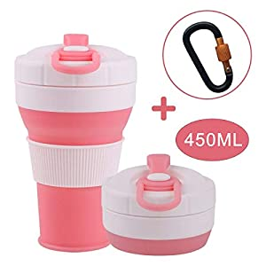 Silicone collapsible coffee cup great for hiking, camping, travel, business trip, outdoor sports.Product Name: Collapsible Coffee CupSpecification:Weight: 170gCapacity: 450mlSize: 92*92*155mmFolding size:92*92*67mmMaterial: Food grade silicone PPPP P...