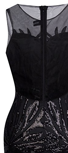 Angel fashions Damen Art Deco Paillette Inspiriert Meerjungfrau Bodycon Abend Kleid Abschlussball XLarge - 5