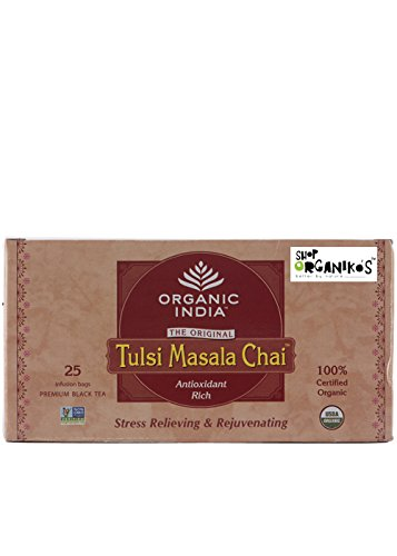 Organic India Organic Tulsi Masala Tea (25 tea bags)  available at amazon for Rs.109