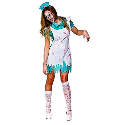 Blutrünstige Krankenschwester Horror Halloween Frauen Verkleidung Kostüm (Frauen Krankenschwester Kostüme)
