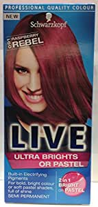Schwarzkopf Live Ultra Brights or Pastel- Raspberry Rebel  91
