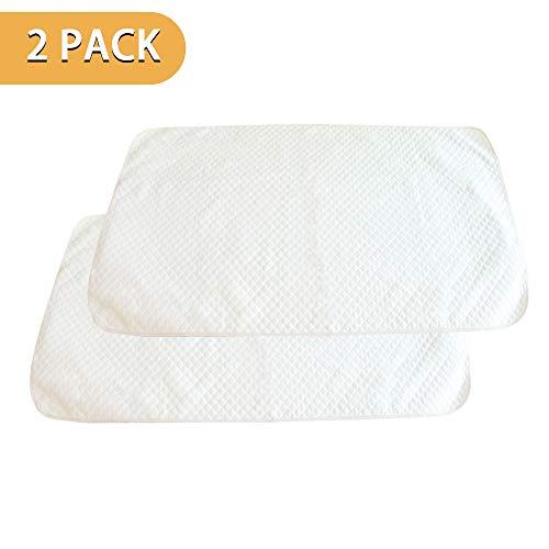 PX Home Baby Matratzenschoner, Wasserdichte Matratzenauflage Auflage Inkontinenzauflage Inkontinenz-Bettschutzeinlage Waschbar Matratzenschutz,weiß,2 Stücke (120 x 70 cm)