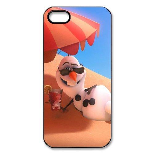 Coque pour iPhone 5S motif disney la reine des neiges elsa et anna, (olaf-serie apple iPhone 5S case cover etui housse coque de protection en silicone pour iPhone 5/5S