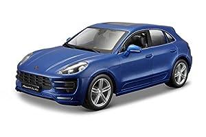 Bburago- Coche Metal Porsche Macan, Color Azul (1821077B)