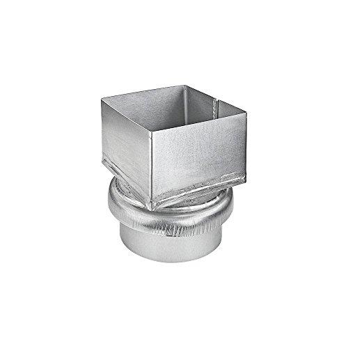 Adapter Dachrinne (Übergangsstück Kastenrohr 100 mm auf Fallrohr DN100)