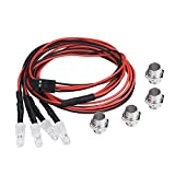 RC Coche LED Luces, 4 Pcs 5mm Faros RC Accesorio LED Luces para Modelo Carro de Deriva Vehículo(2# Blanco Luz)