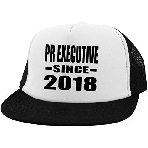 Designsify PR Executive Since 2018 - Trucker Hat Fernfahrer-Kappe Golfkappe Baseballkappe - Geschenk zum Geburtstag Jahrestag Muttertag Vatertag Ostern -