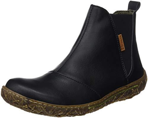 El Naturalista Damen Vegan Chelsea Boots, Schwarz (Black Black), 39 EU