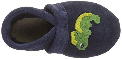 Haflinger Eddy, Chaussons pour enfant bébé garçon Bleu océan