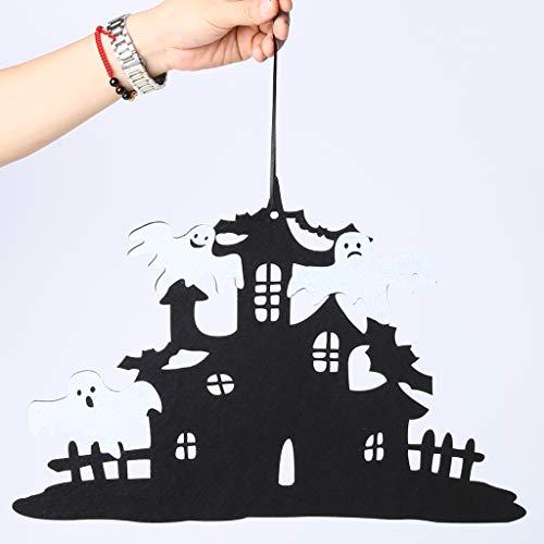 Pannow Halloween Hängende Hexe Halloween Vlies Hängende Dekoration Wand Tür Dekoration für Haus Büro Tür Halloween Party Supplies