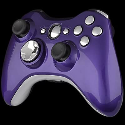 Xbox 360 Wireless Controller - Piano Purple with Chrome Buttons