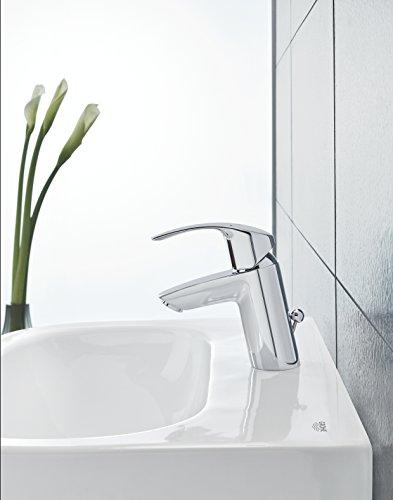 grohe eurosmart waschtischarmatur mit zugstange s. Black Bedroom Furniture Sets. Home Design Ideas