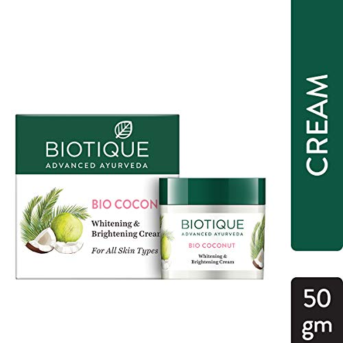 Buy Biotique Bio Coconut Whitening And Brightening Cream, 50g online in India at discounted price