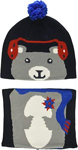 Columbia Set aus Beanie und Gamasche für Kinder, Snow More Beanie and Gaiter Set Toddler, Acryl, Blau (Collegiate Navy Bear), Einheitsgröße, 1811541 | 00191454644701