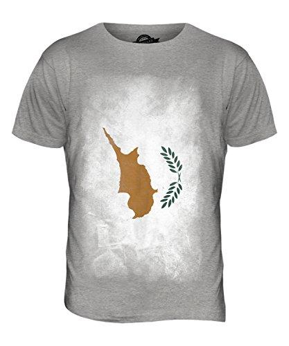 CandyMix Republik Zypern Verblichen Flagge Herren T Shirt Grau Meliert