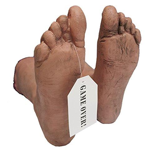 Crime Scene Leichenhalle 1 Paar Leichen Füße Toe Tag Zehen Zettel (Leichenteile Halloween)