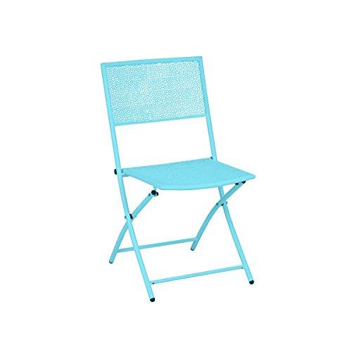 greemotion- Juego de 2 sillas plegables Mykonos (45/60/85 cm), Sillón aluminio, Silla...