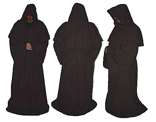 Deluxe Erwachsene Jedi Luke braun Master Bademäntel Star Wars Fancy Kleid Gr. L/XL, braun