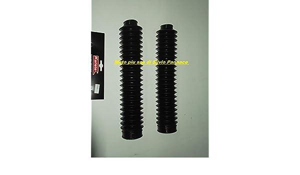 pour enduro compatibles avec XT-TT-TENERE 600-350 HONDA XL XR SUZUKI DR Ariete/_Italia Paire de soufflets noirs pour fourche