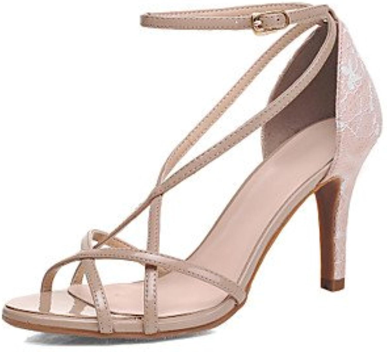 YFF Donna Sandali PU Stiletto Heel fibbia,mandorla,US8 | marche  marche  marche  1a8bc8
