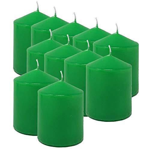 MGE - Velas Perfumadas - Velones Aromáticos - Velas para Ambientar el Hogar - 12 Unidades - Verde - Aroma Melón - Fabricado en España