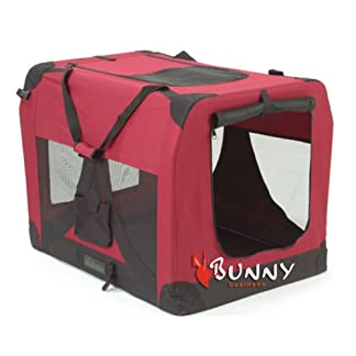 BUNNY BUSINESS FOLDING FABRIC DOG CRATE PET CARRIER WITH FREE FLEECE 20-INCH SMALL BEIGE_P 41IaeothALL