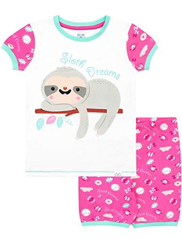 Schlafanzug Kurz Faultier Träume Rosa 104 ()