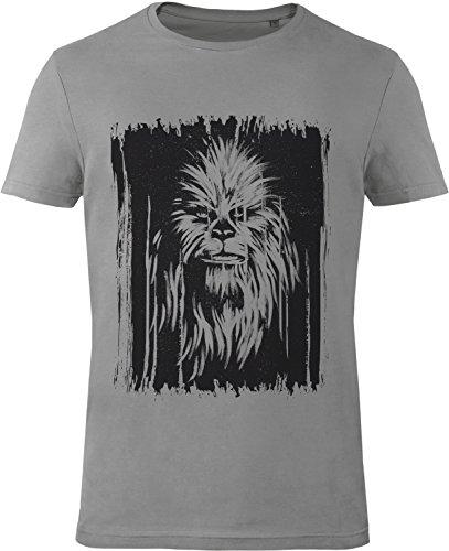 GOZOO Herren T-Shirt Star Wars T-Shirt Vintage Wookiee Castlerock Grau