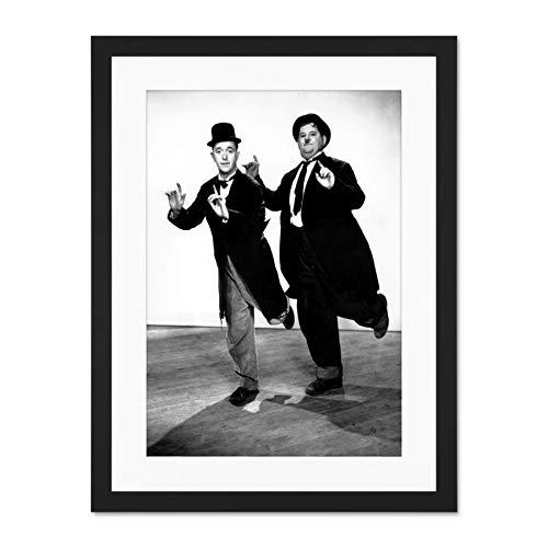 Movie Film Legends Laurel Hardy Silent Comedy Large Art Print Poster Wall Decor 18x24 inch Supplied Ready To Hang With Included Mount Brackets Film Legende Komödie Große Kunst Wand Deko Laurel Hängen