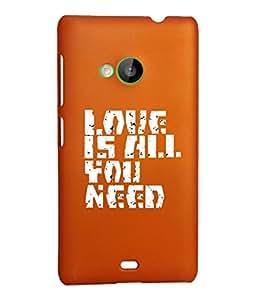 KolorEdge Back Cover For Microsoft Lumia 535 - Orange (2309-Ke15120Lumia535Orange3D)