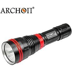 Bazaar Archon dy01 xp-l 26650 1000lm plongée professionnelle LED lampe de poche 100m