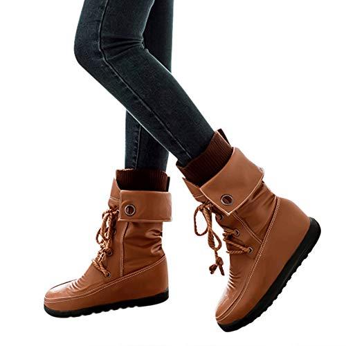 TianWlio Stiefel Frauen Herbst Winter Schuhe Stiefeletten Boots -