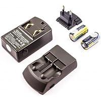 Adaptateur secteur et chargeur de voiture compatible pour Panasonic 123, 123A, CR123A, CR123R, K123LA