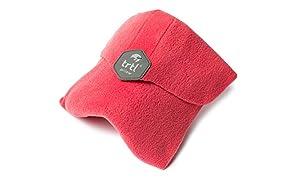 Trtl Pillow - Scientifically Proven Super Soft Neck Support Travel Pillow - Machine Washable Coral
