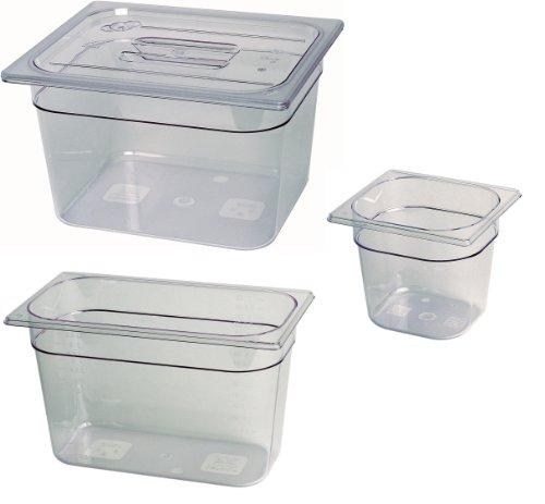 GN Behälter Gastronormbehälter 1/3 – 150 mm Tiefe aus Kunststoff durchsichtig 1A Qualität