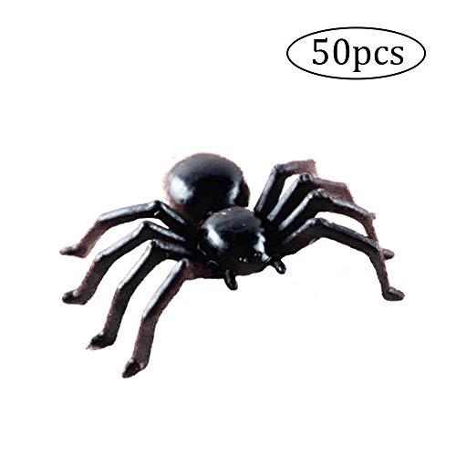 NaiCasy 50 STÜCKE Künstliche Leuchtende Spinne Plastiksimulationsspinne Halloween Geisterhaus Prop - Halloween-kostüme Spooky Machen Zu