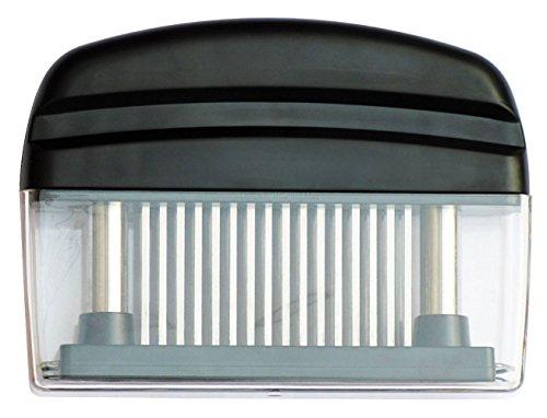 Edelstahl Nadel Fleischhammer 48Ultra scharfe Nadel Klinge Küche Werkzeug mit Sicherheitsschloss für weichklopfen von Steaks Pork Rind Schwarz