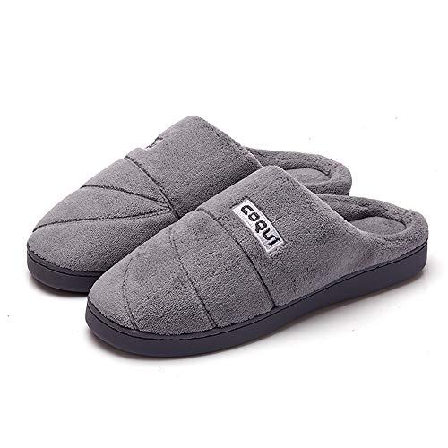Slippersxsj pantofole di cotone semplici e comode pantofole da uomo in cotone morbido e caldo, 40-41 / 25cm