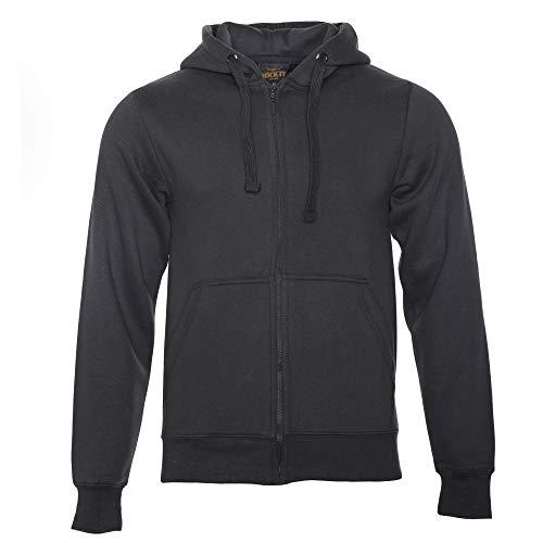 ROCK-IT Apparel® Herren Kapuzenjacke Zipper Hoodie Kapuzen Sweater Jacke Workerhoodie Pullover Hoody Größen XS-5XL - Farbe Schwarz X-Large -