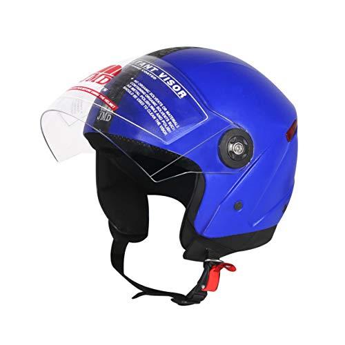 JMD HELMETS Grand Open Face Helmet (Blue, Large)